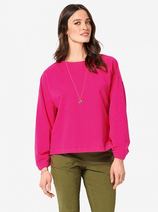 Пуловер з оригінальними складками на рукавах