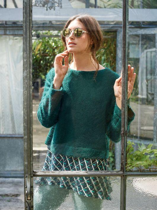 Пуловер с эффектом многослойности
