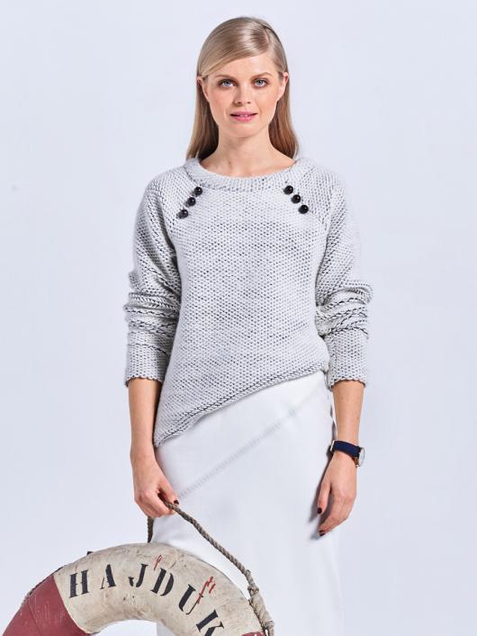 Пуловер прямого крою з рукавами реглан