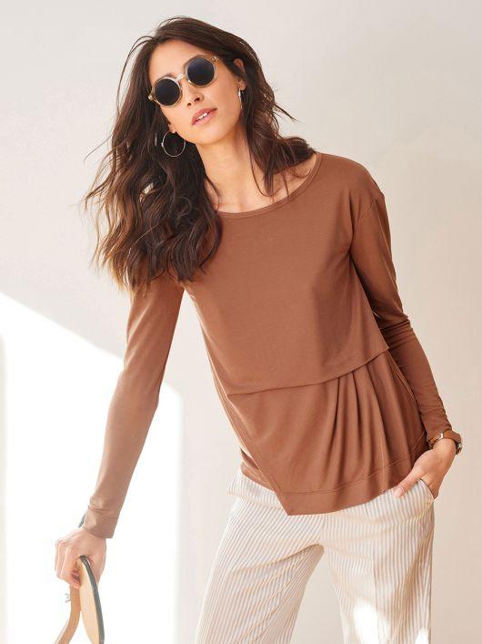 Пуловер з асиметричною деталлю переду