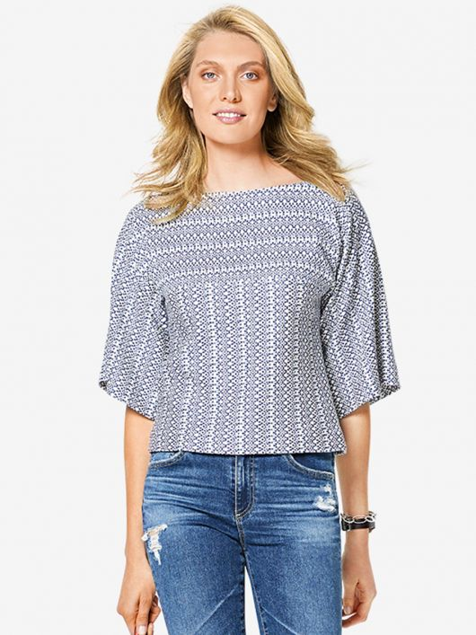 Блуза трикотажна з широкими рукавами