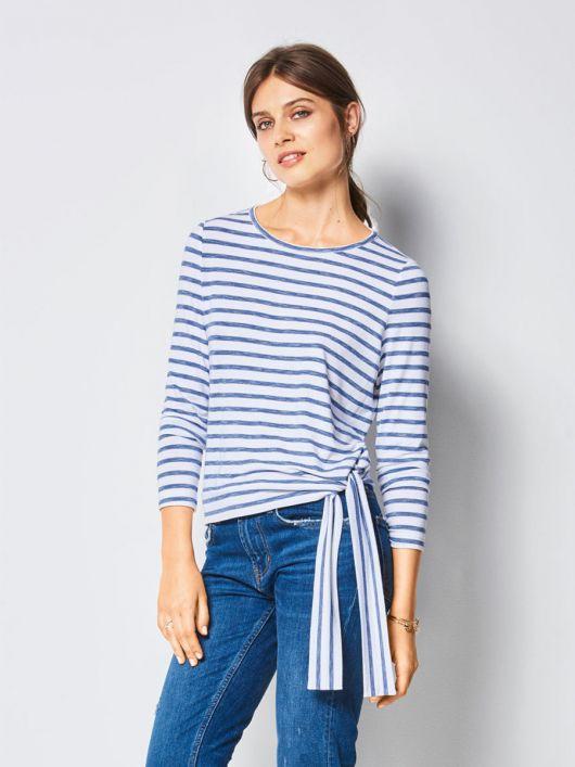 Пуловер прямого крою із зав'язками