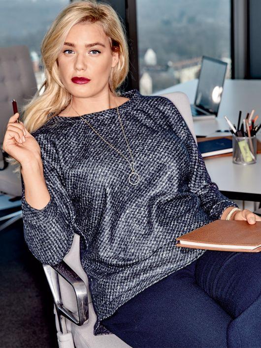 Пуловер прямий з видовженою спинкою