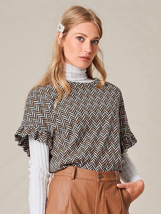 Пуловер із жакардового трикотажу