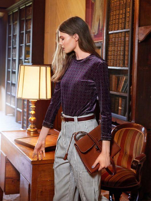 Пуловер із вкороченими рукавами