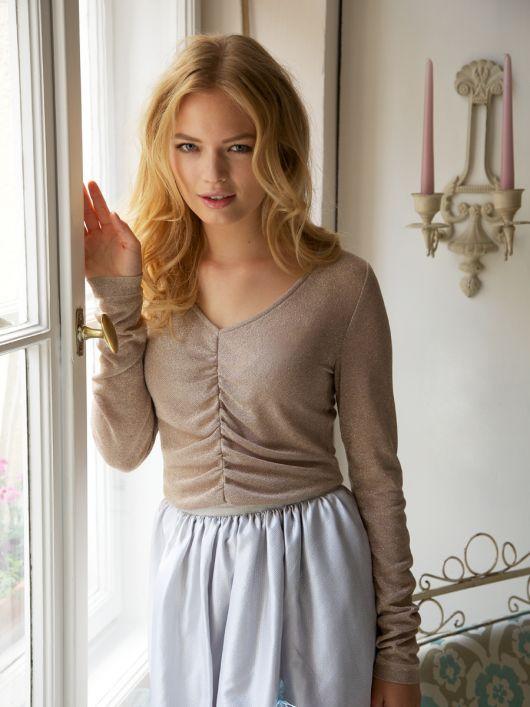 Пуловер із в'язаного полотна з люрексом