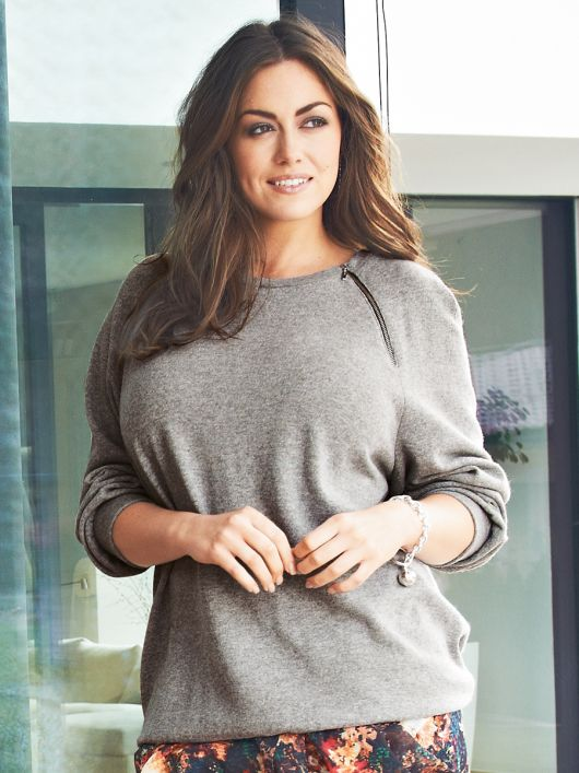 Просторий пуловер з рукавами реглан