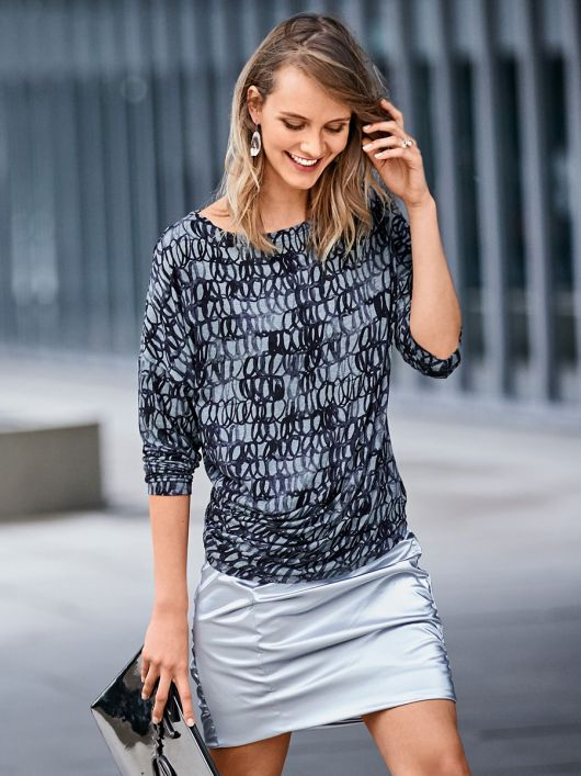 Пуловер приталений асиметричного крою