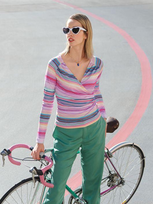 Пуловер вузького крою з рукавами реглан