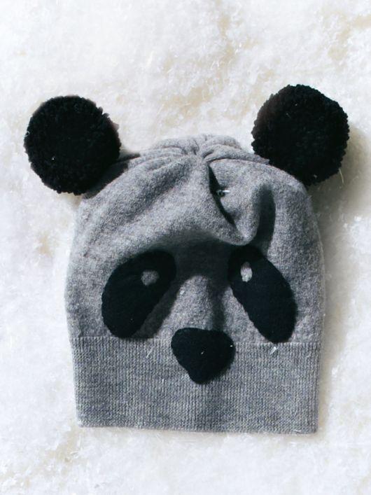 """Шапочка-""""Панда"""" і рукавиці з """"кігтями"""""""