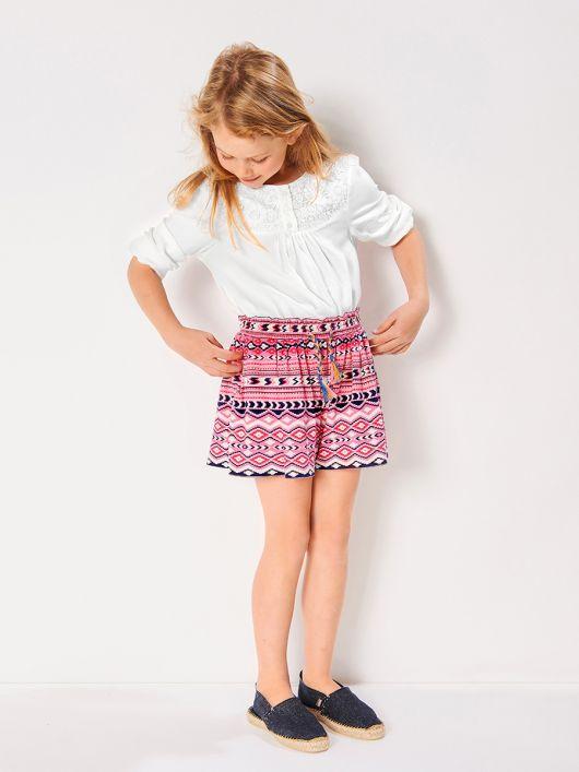 Спідниця-шорти з трикотажного полотна
