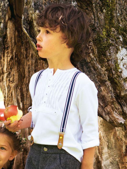 Сорочка поло з пластроном