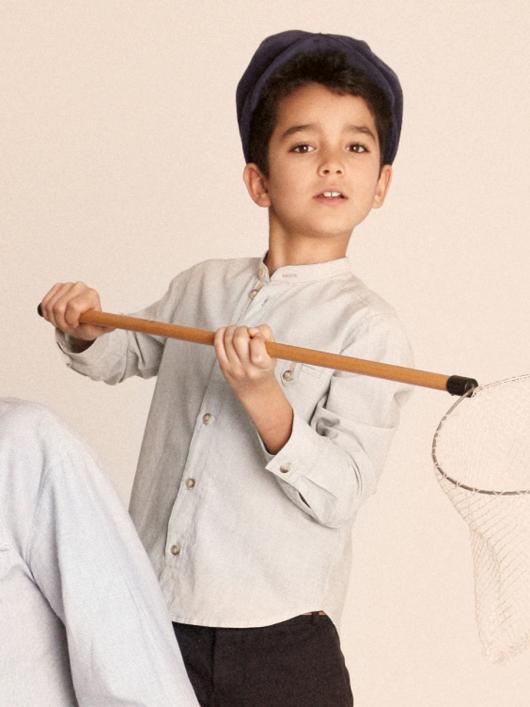 Сорочка з коміром-стійкою для хлопчика