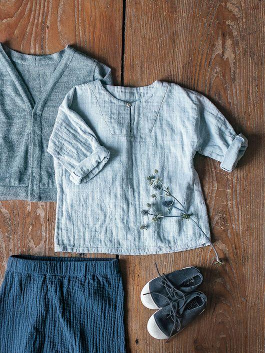 Сорочка прямого крою з пластроном