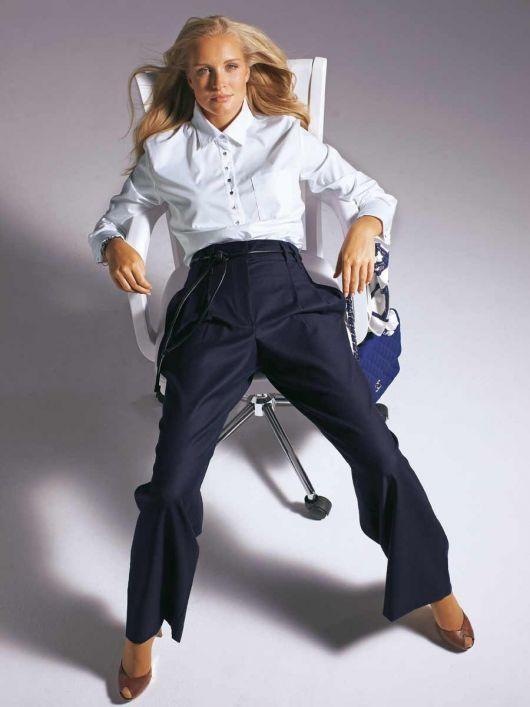 Блуза-сорочка із застібкою поло
