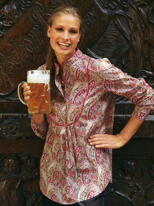Блуза с пластроном і застібкою поло