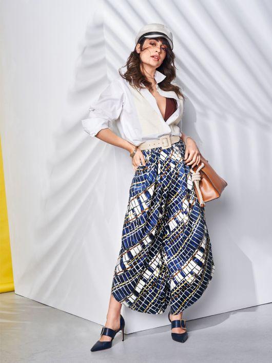 Спідниця-брюки зі складками біля пояса