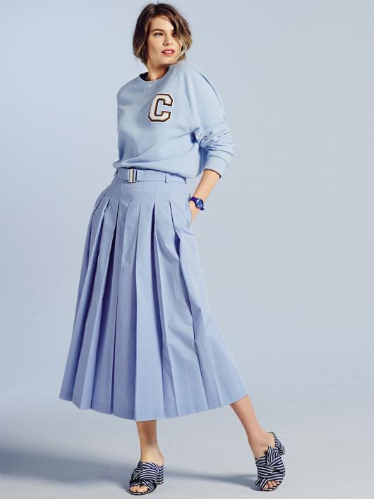 Спідниця-брюки зі знімним ременем
