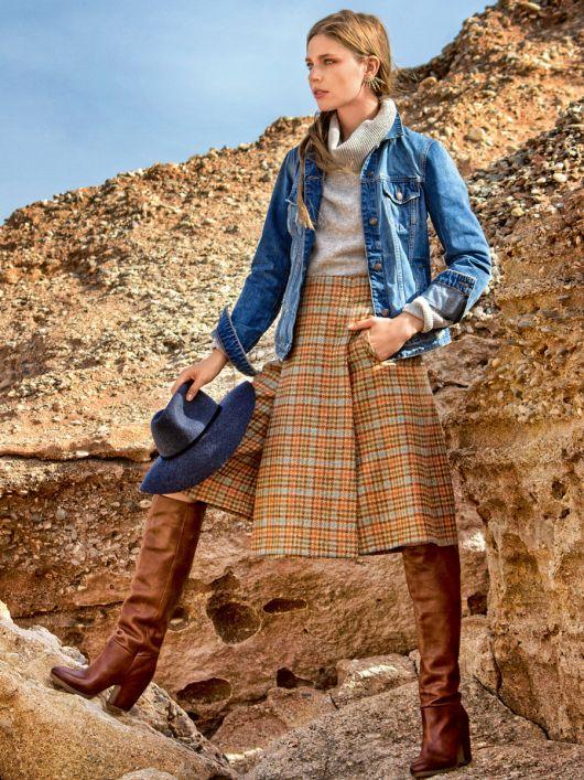 Спідниця-брюки з відлітним полотнищем
