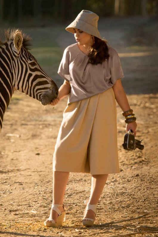 Спідниця-брюки зі складками
