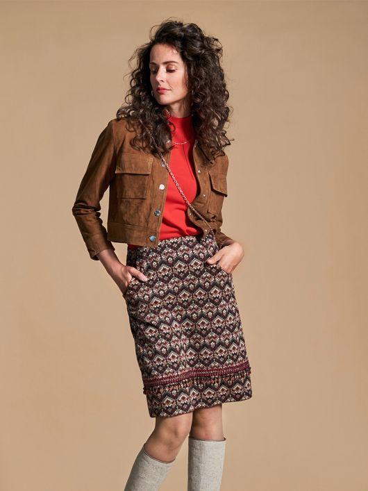 Спідниця А-силуету з боковими кишенями