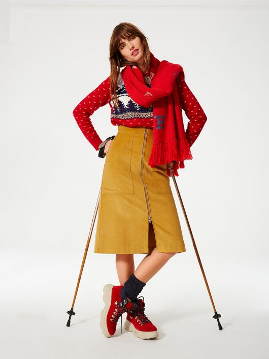 Юбка миди А-силуэта в стиле 70-х
