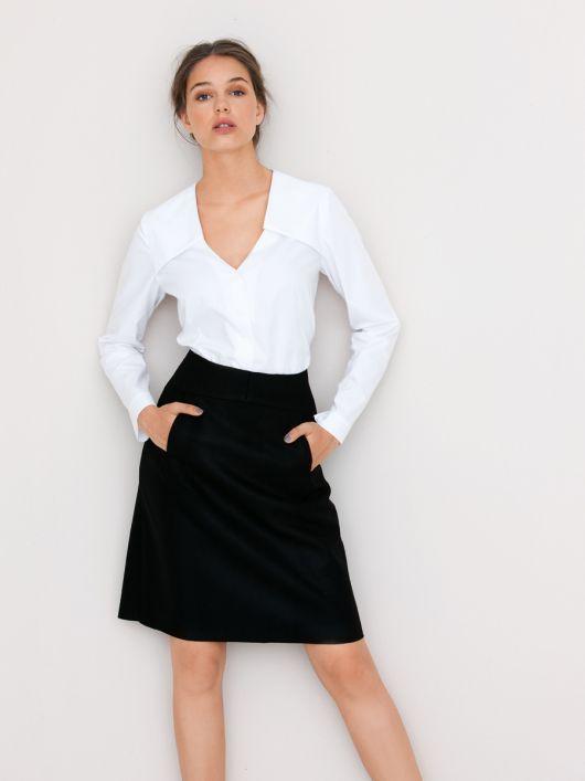 Спідниця А-силуету з оригінальною кишенею