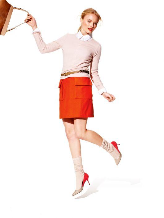 Спідниця міні з кишенями-портфелями