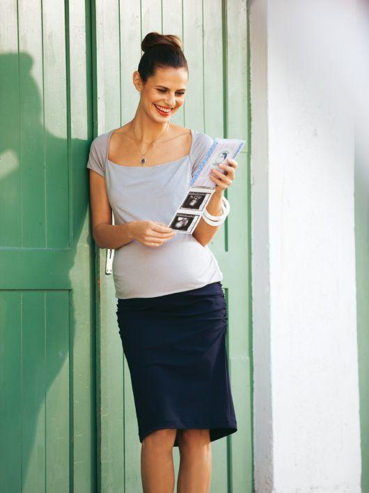 Спідниця трикотажна прямого крою для вагітних
