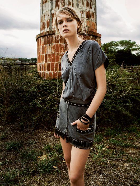 Міні-спідниця з металевим декором