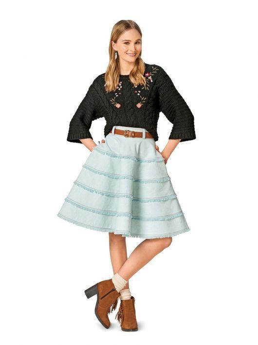 Спідниця багатоярусна з джинсової тканини