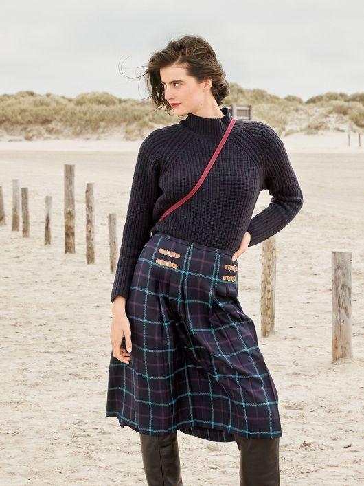 Спідниця в складку в шотландському стилі