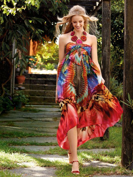 Сукня-бандо з асиметричною спідницею