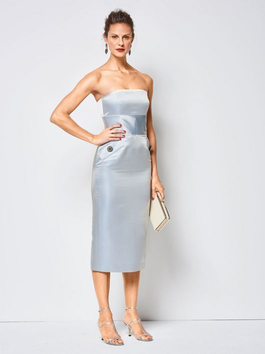Сукня-бюстьє з широким вшивним поясом