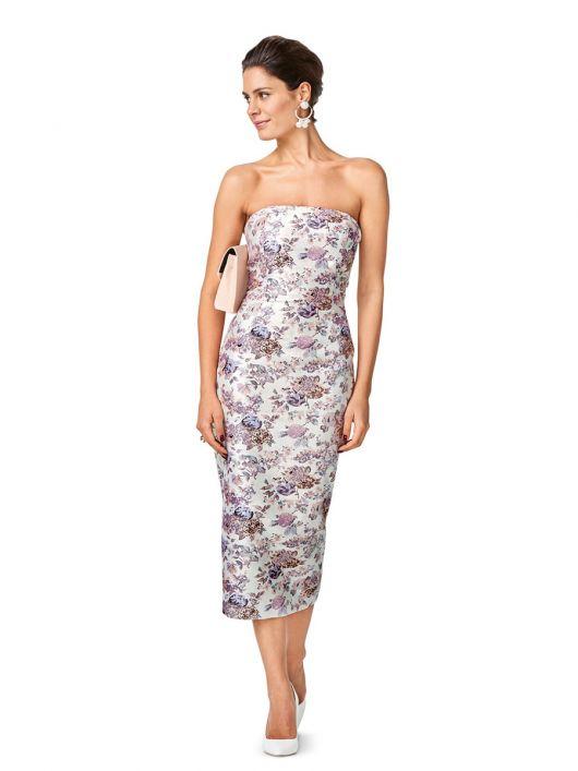 Сукня-бюстьє довжини міді