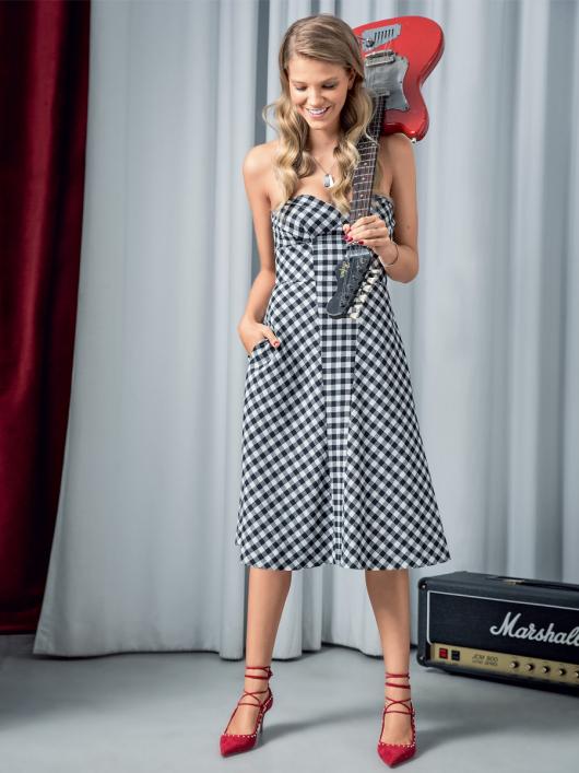 Сукня-бюстьє зі спідницею А-силуету