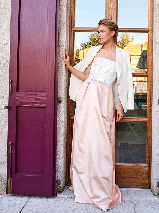 Сукня-бюстьє із завищеною талією