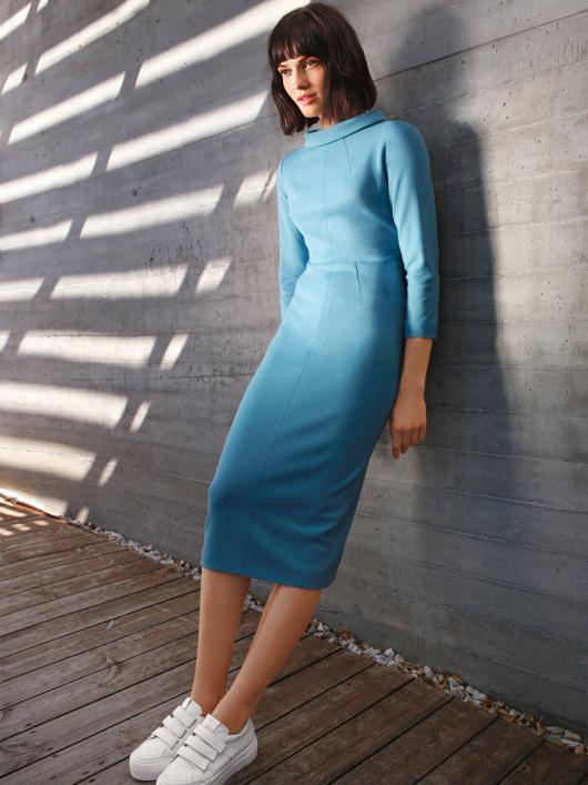 Сукня вузька трикотажна в стилі 60-х