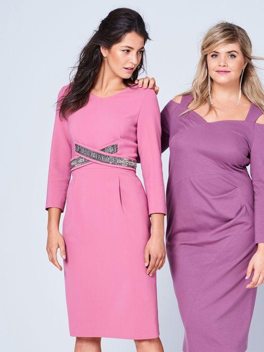 Сукня-футляр з перехрещеними планками