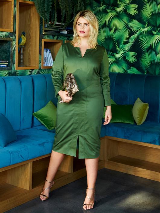 Сукня-футляр із вшивним поясом