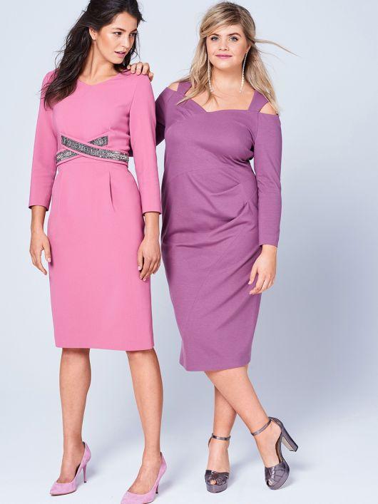 Сукня-футляр з ефектом запаху і складками