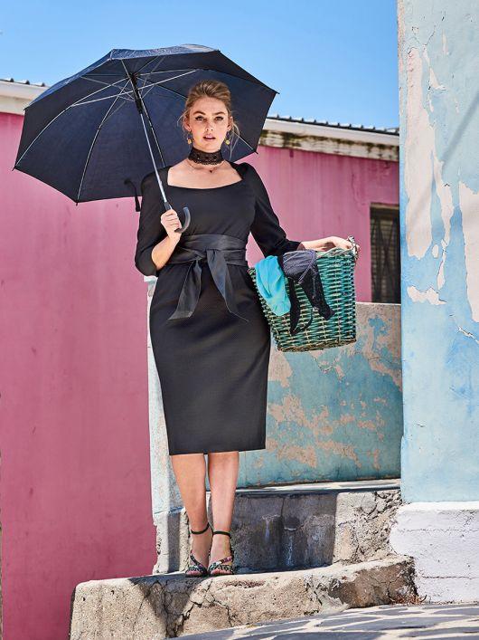 Сукня-футляр з поясом обі