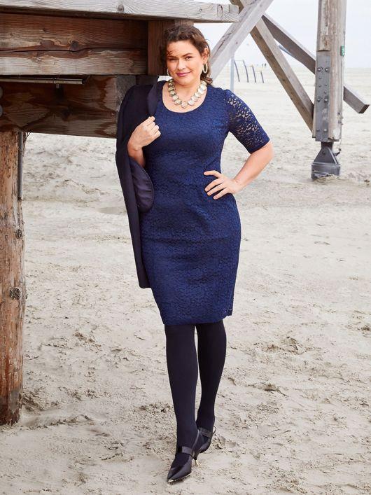 Сукня-футляр мереживна з короткими рукавами
