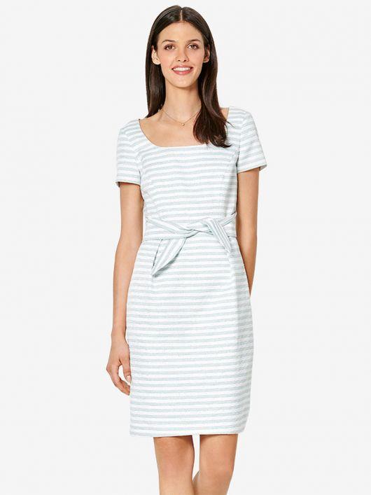 Платье-футляр c боковыми завязками