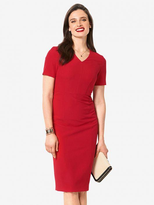 Сукня-футляр з короткими рукавами
