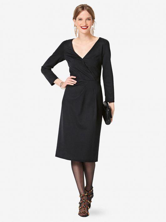 Сукня відрізна трикотажна зі складками на талії