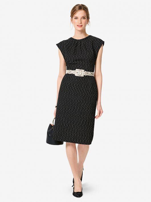Сукня-футляр з приспущеною лінією плечей