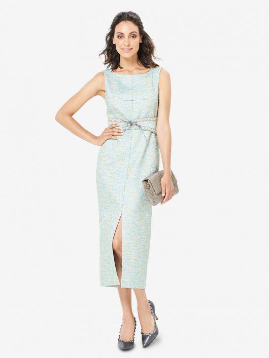 Сукня вузького крою з поясом обі
