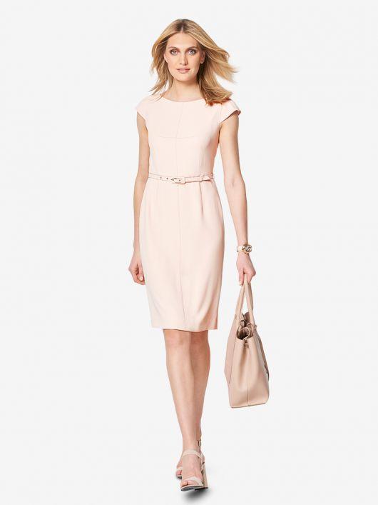 Сукня-футляр з вузьким поясом