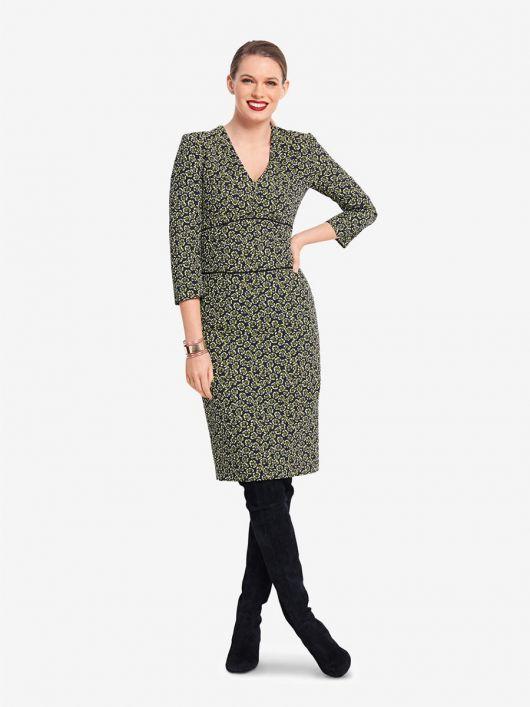 Сукня-футляр з V-подібним вирізом горловини